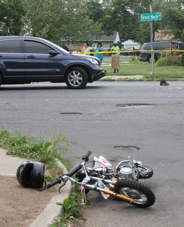 A 15-year-old driver of a mini bike was