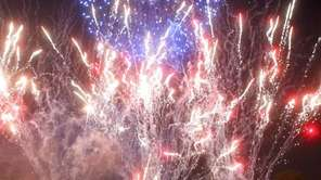 Spectators watch the TD Bank Celebrate America Fireworks