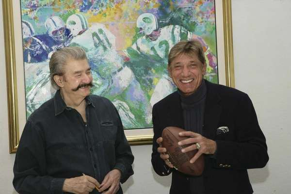 Painter LeRoy Neiman (L) and former New York