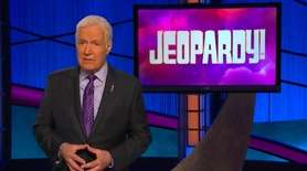 """Jeopardy!"" host Alex Trebek in a new public"