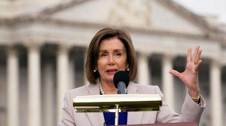 Speaker of the House Nancy Pelosi, D-Calif., speaks