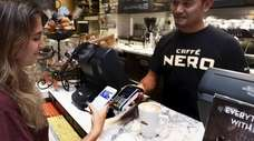 Use of digital wallets for in-person sales has