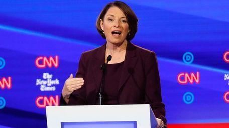 Democratic presidential candidate Sen. Amy Klobuchar, D-Minn., speaks