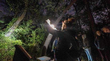 Moonlight walk at Downs Farm Preserve, Cutchogue.
