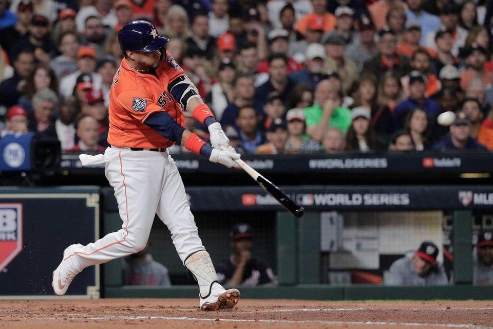 Houston Astros' Yuli Gurriel hits a home run