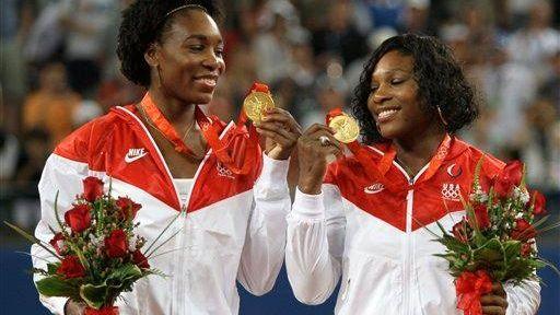 Venus, left, and Serena Williams of the United