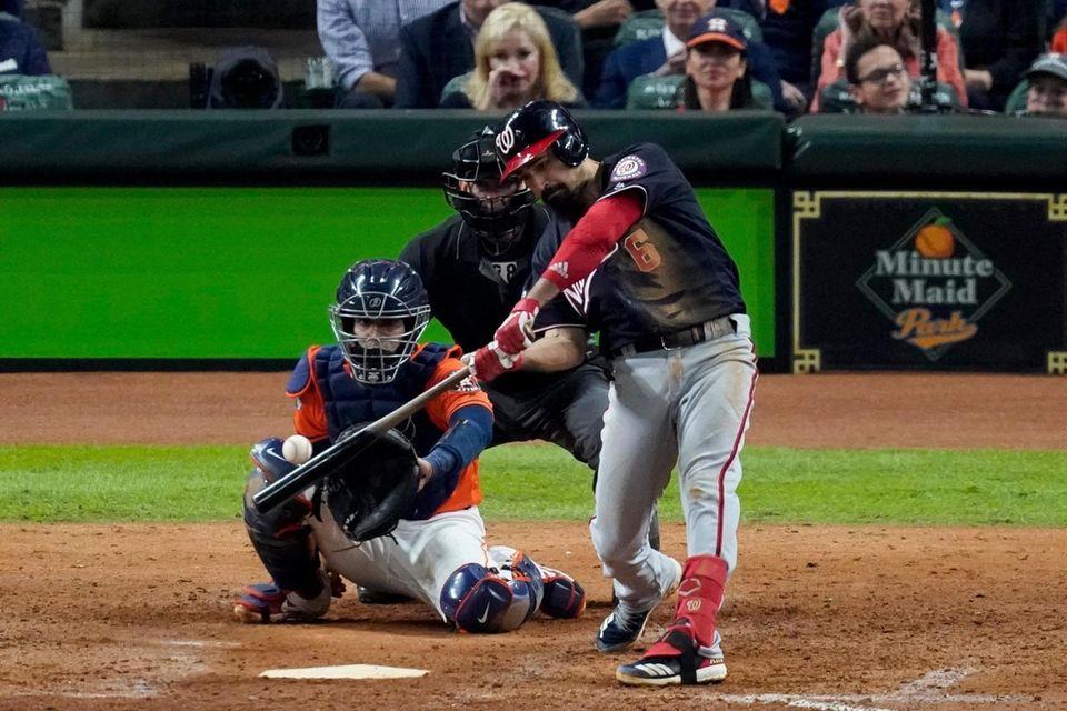 Washington Nationals' Anthony Rendon hits a home run
