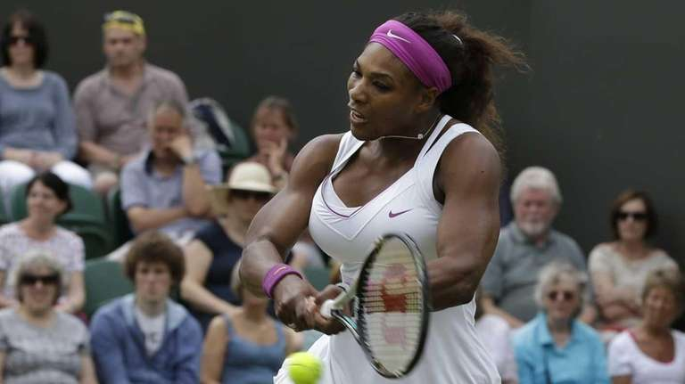 Serena Williams of the United States returns a