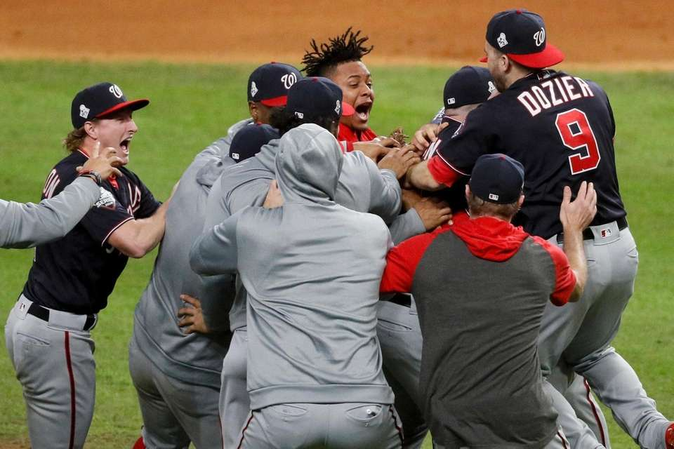 Washington Nationals celebrates after Game 7 of the