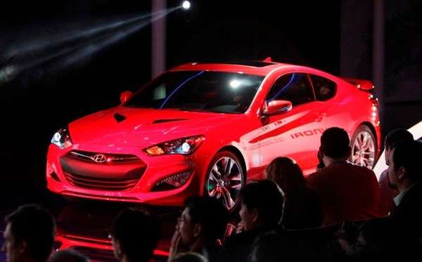 The Hyundai Genesis Coupe is unveiled at the