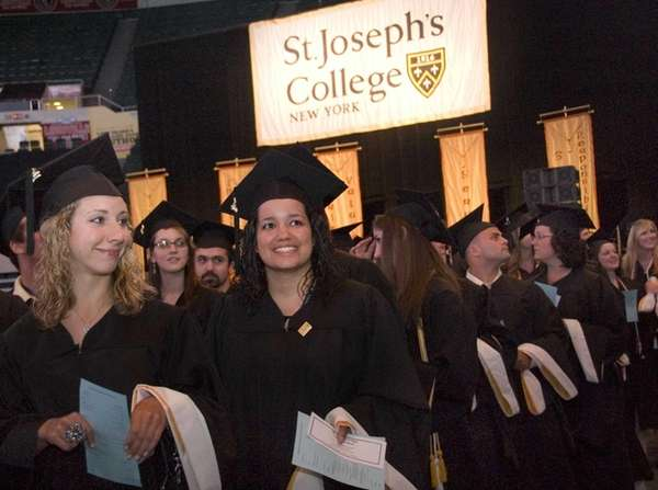 Students attend St. Joseph's College graduation ceremonies at
