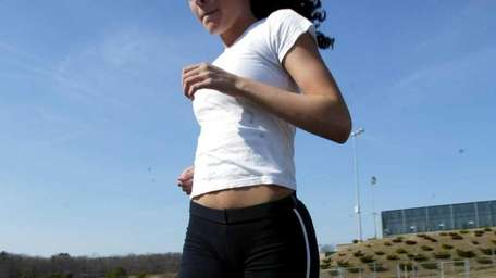 Rocky Point runner Melissa Salerno during practice at
