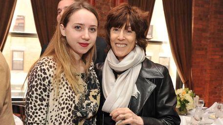 Actress Zoe Kazan and Nora Ephron attend a