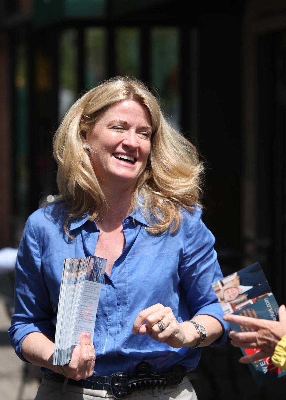 U.S. Senate candidate Wendy Long campaigns in Garden