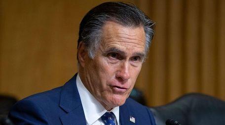 Republican Senator from Utah Mitt Romney participates in