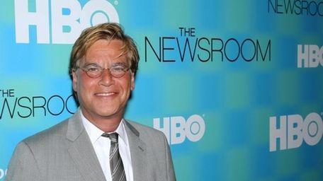 Aaron Sorkin attends the Manhattan screening of the