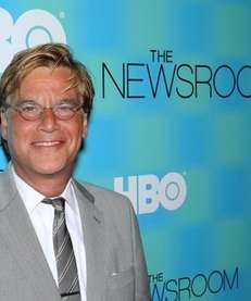Aaron Sorkin attends the Manhattan screening of the