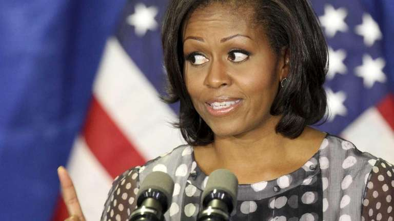 First lady Michelle Obama speaks in Chicago, before