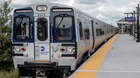 The new M9 LIRR train on Sept. 10