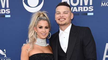 Katelyn Jae and husband Kane Brown attend the
