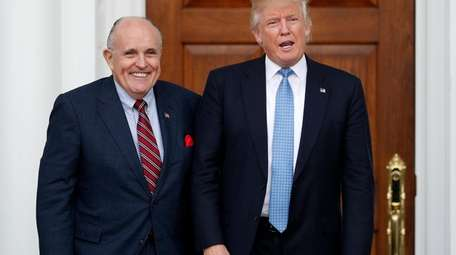 Rudy Giuliani, a personal lawyer to President Donald