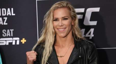 UFC flyweight Katlyn Chookagian poses at UFC 244