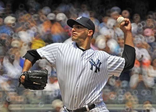 Andy Pettitte pitches to the Cleveland Indians. (June