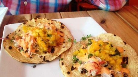 Snow crab tacos at Swallow East, Montauk. (June,