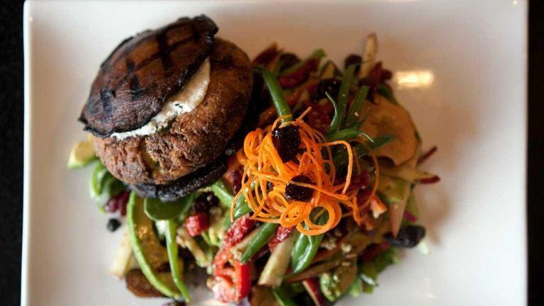 CEDARHURST CAFE, Cedarhurst Pictured Spinach portobello burger is