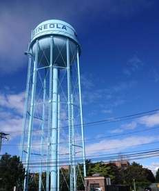The Mineola Water Tower was constructed in 1927.