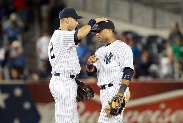Derek Jeter and Robinson Cano of the Yankees