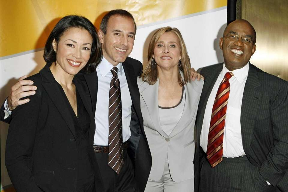 Ann Curry, left, Matt Lauer, Meredith Vieira, and
