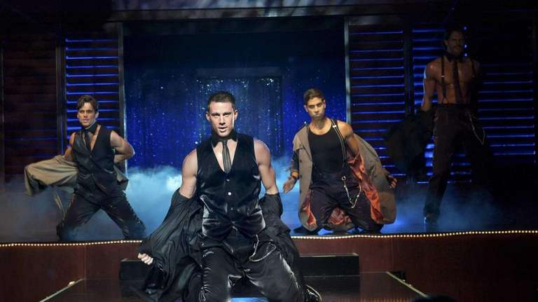 Matt Bomer, left, as Ken, Channing Tatum as