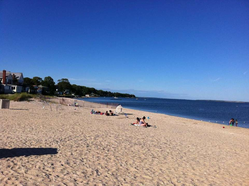 South Jamesport Beach overlooks the Great Peconic Bay.