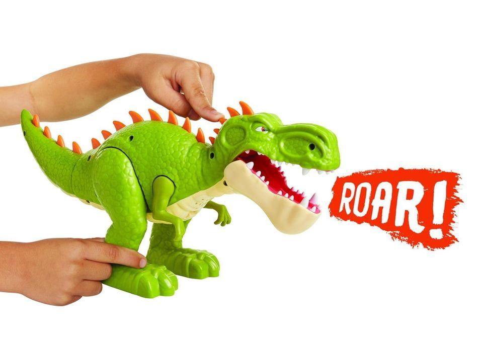 Kids can push a button to make Gigantosaurus