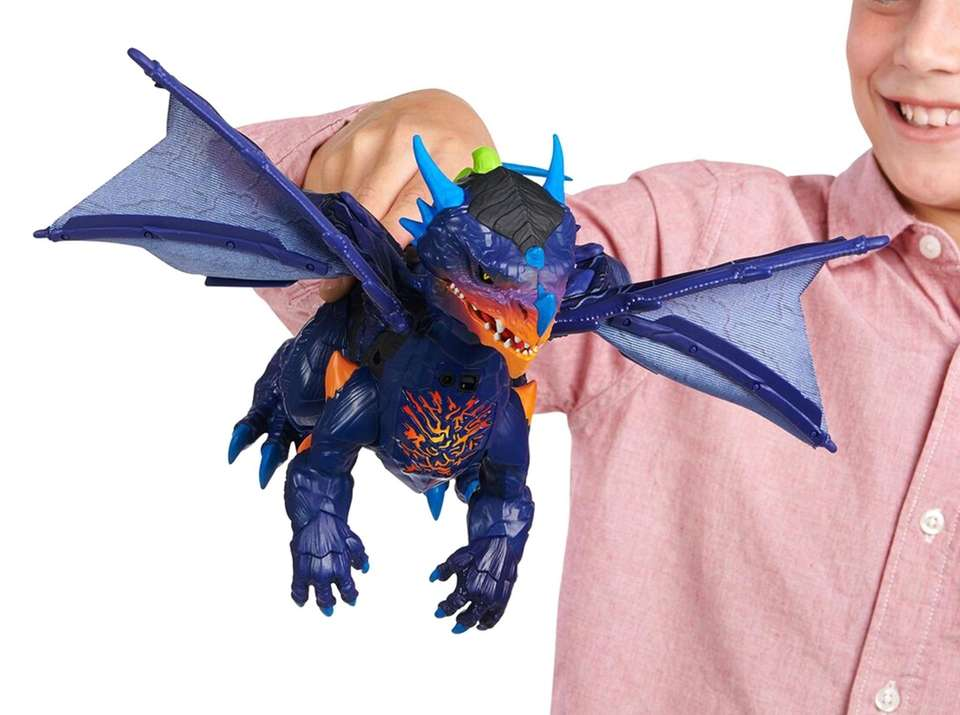 This dragon reacts to touch with motion-sensing technology.