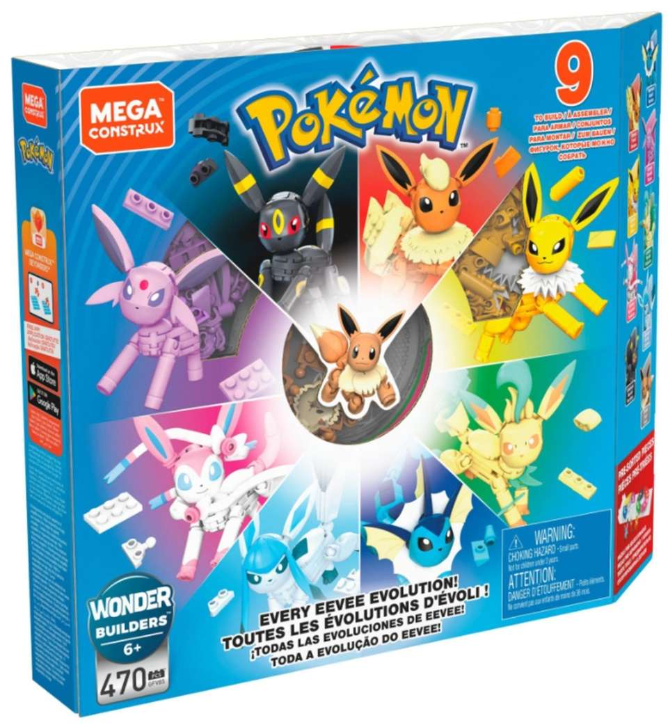 With the Pokémon set, kids can build several