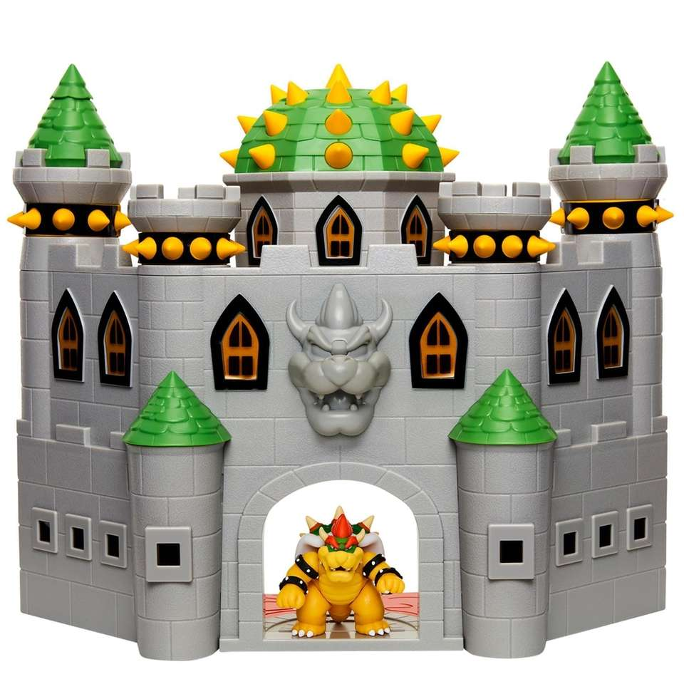 Explore Bowser's castle with this Super Mario playset,