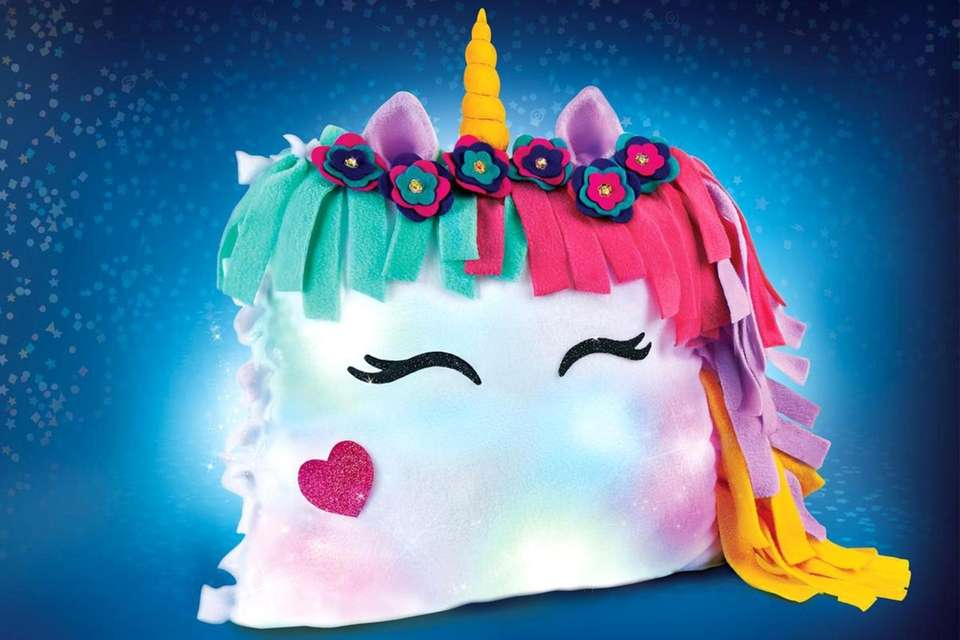 Kids can make a glow-in-the-dark pillow that uses
