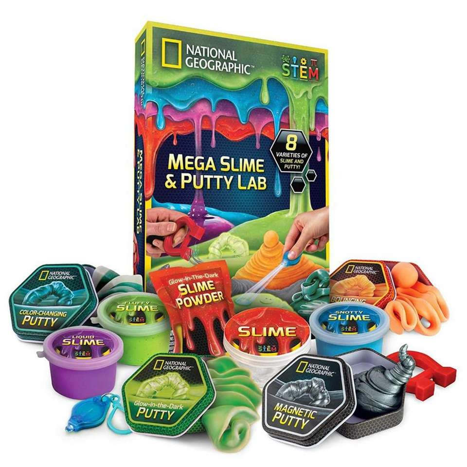 Kids can play and learn about slime and