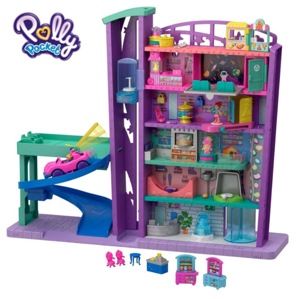 This doll set features six floors and more