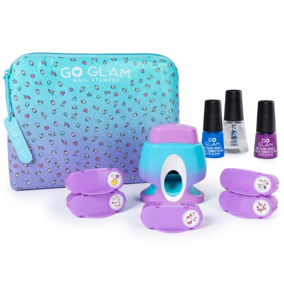 With this at home nail salon set, kids