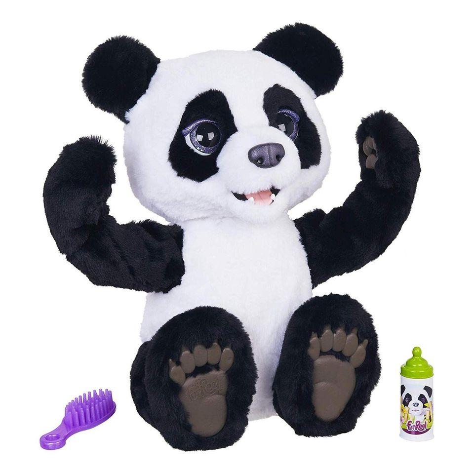 This Amazon exclusive plush panda bear cub comes