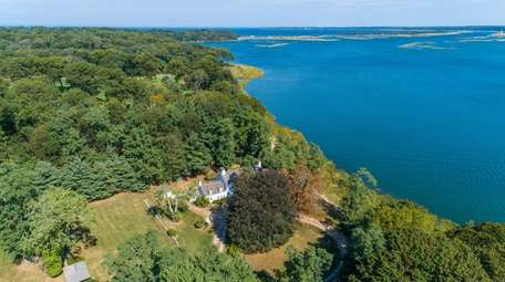 The Nissequogue home is on about 19 acres.
