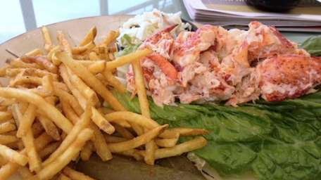 Lobster roll is served at Fishbar Restaurant in
