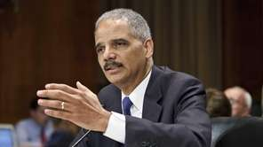Attorney General Eric Holder testifies on Capitol Hill
