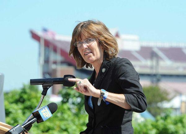 New York State Parks Commissioner Rose Harvey speaks