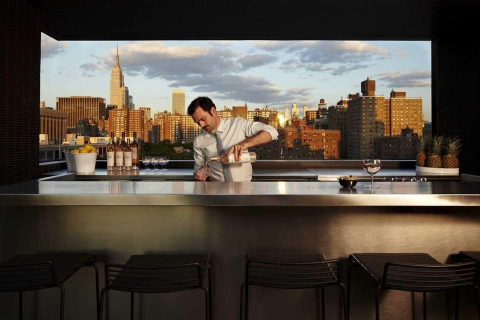 The rooftop bar at the Hotel Americano in