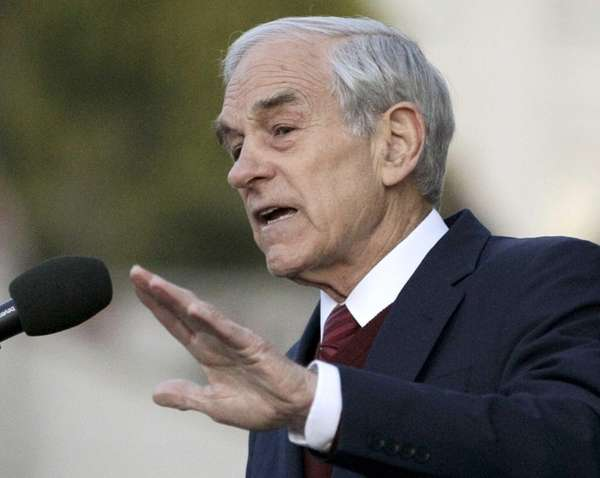 Rep. Ron Paul, R-Texas speaks at the University