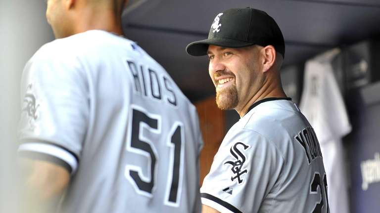 Kevin Youkilis of the White Sox looks on